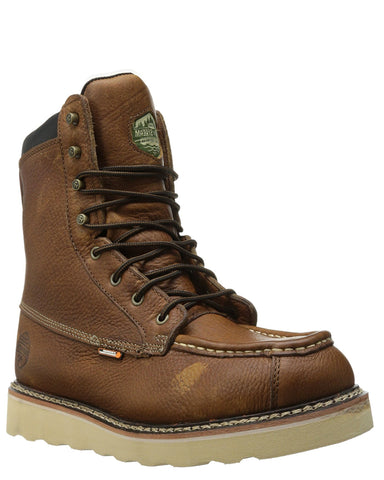 "Mens 8"" Moc Toe Wedge Sole H20 Lace-Up Boots"