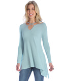 Women's Shark Bite Long Sleeve Blouse