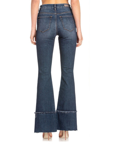 Women's Solid Flare Jeans
