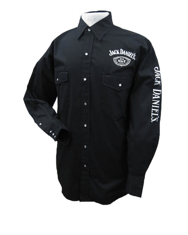 Men's Old No.7 Long Sleeve Western Shirt - Black