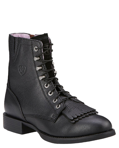 Womens Heritage Lacer Boots - Black