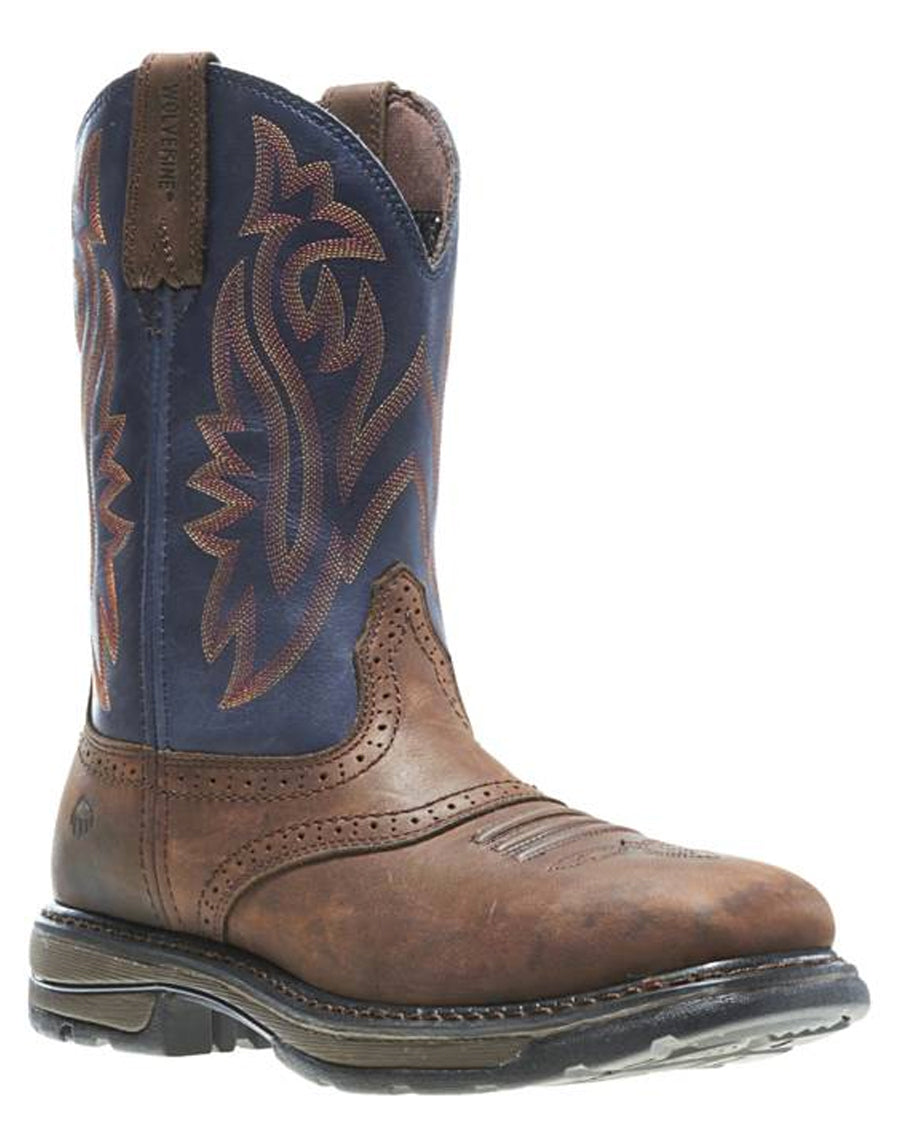 e2db652d954 Wolverine Mens Javelina High Plains Western Work Boots