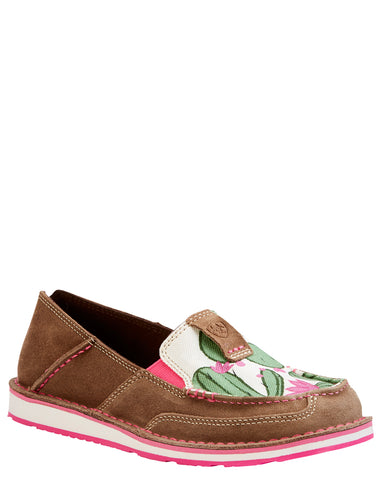 Women's Rugged West Cactus Print Cruiser Shoes