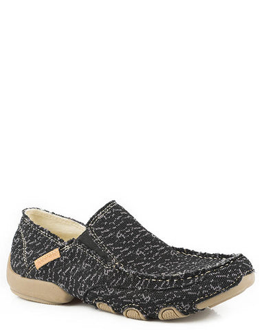 Mens Dougie Driving Moc Shoe - Black