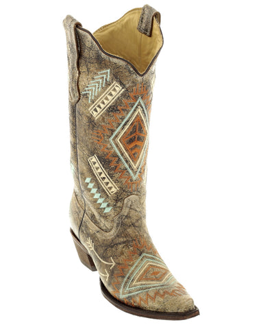 Women's Multi Colored Diamond Boots