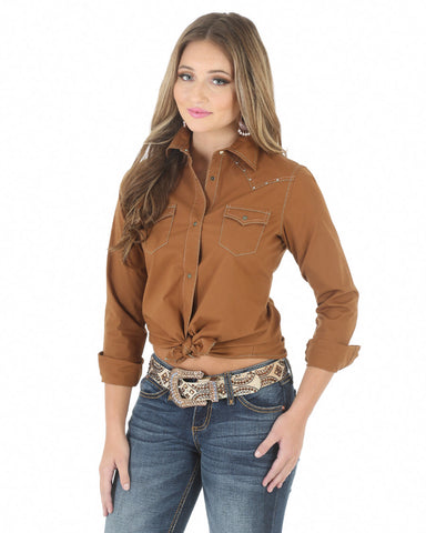 Women's Heavy Stitching Western Shirt
