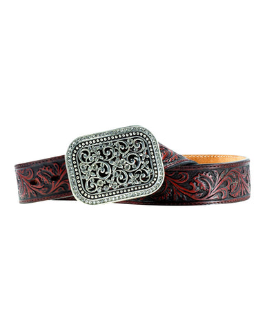 Womens Fillagree Leather Belt