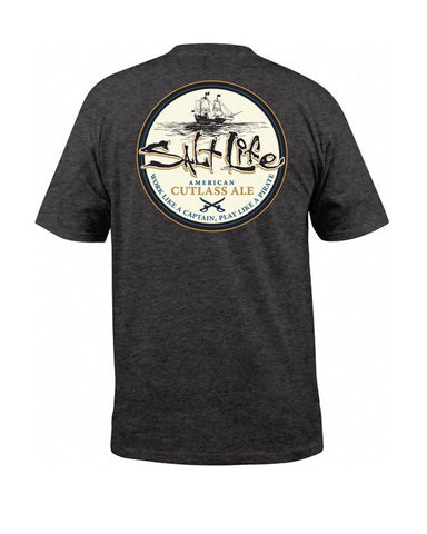 Salt Life Cutlass Ale T-Shirt - Grey