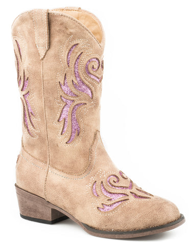 Girl's Lydia Glitter Western Boots