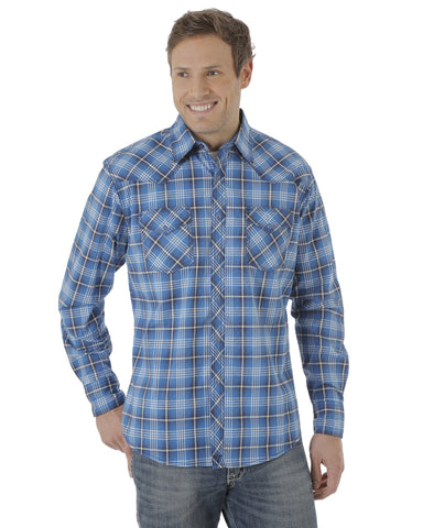 Men's 20X Advance Comfort Plaid Long Sleeve Shirt - Blue