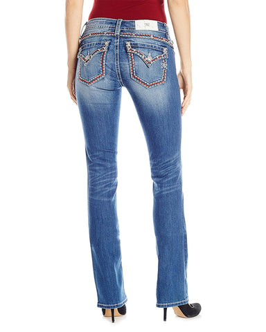 Women's Mid-Rise Slim Boot Cut Jeans