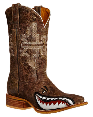 Men's Toastin A Gnarly Shark Boots