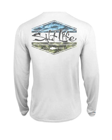 Salt Life Scheme Long Sleeve Shirt - White