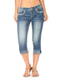 Women's Embellished Easy Fit Capri