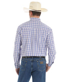 Men's George Strait Plaid Long Sleeve Western Shirt