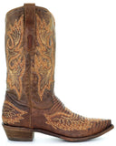 Mens Embroidered Lizard Boots