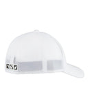 Fish Dive Surf Stretch Ball Cap - White
