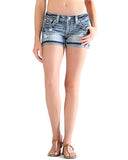 Womens Vanessa Embroidered Shorts