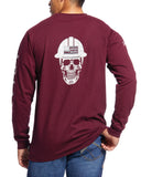 Men's Fire Rated Roughneck T-Shirt Malbec