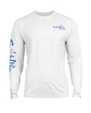 Mens Captain SLX UVapor Long Sleeve Shirt - White