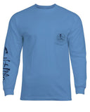 Men's Angler Performance Long Sleeve Fishing Shirt - Blue