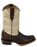 Infants's Dragon Sparkle Boots -Brown