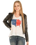 Women's USA Burnout Tank Top
