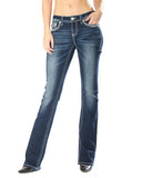 Women's Heavy Stitch Junior Boot Cut Jeans