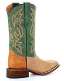 Youth Two Toned Western Boots - Green