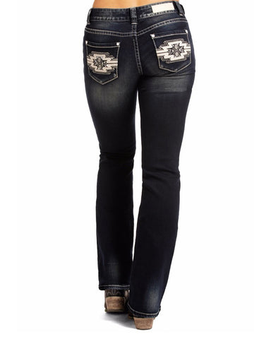 Womens Extra Stretch Embroidered Jeans