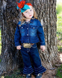 Toddlers All Around Baby Ruffle Denim Jacket