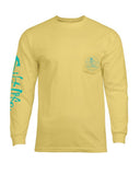 Mens Skull & Hooks Long Sleeve Shirt - Banana