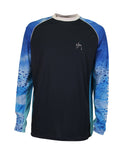 Mens Phaser Performance Long Sleeve T-Shirt - Navy