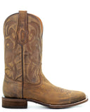 Men's Embroidered Boots - Gold