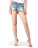 Womens Floral Embroidered Junior Fit Shorts