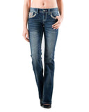 Women's Easy Fit Embroidered Jeans