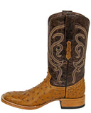 Mens Mad Dog Ostrich Boots - Antique