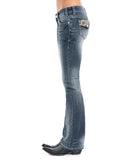 Women's Rival Faux Flap Boot Cut Jeans