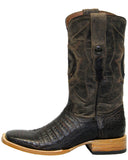 Mens Caiman Belly Boots - Nicotine