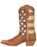 Womens Crush Distressed Flag Boots