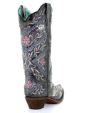 Women's Heavy Floral Embroidered Boots