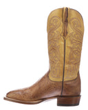 Mens Lance Smooth Ostrich Boots - Tan