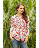 Womens Floral Long Sleeve Western Shirt