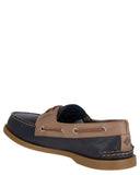 Mens Authentic Original Cross Lace Boat Shoes - Navy