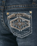 Kid's Aztec Embellished Boot Cut Jeans