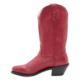 Womens Red Leather Boots