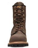 "Men's Crazy Horse 8"" Logger Boots"