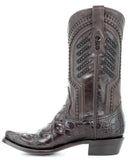Men's Chocolate Alligator Boots