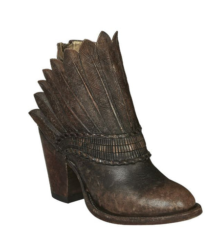 Womens Feather Head Dress Boots