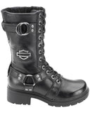 Womens Eda Lace-Up Motorcycle Boots